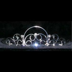 Accessories - Silver wire tiara pageant prom women rhinestone